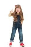 χαριτωμένο κορίτσι λίγο θέτοντας στούντιο Στοκ Φωτογραφίες