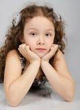 χαριτωμένο κορίτσι λίγο πορτρέτο Στοκ φωτογραφία με δικαίωμα ελεύθερης χρήσης