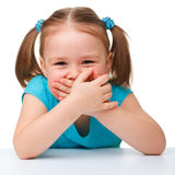 χαριτωμένο κορίτσι λίγο π&omic στοκ φωτογραφία