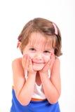 χαριτωμένο κορίτσι λίγο χαμόγελο Στοκ Φωτογραφία
