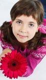 χαριτωμένο κορίτσι λουλουδιών Στοκ Φωτογραφία