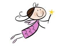 χαριτωμένο κορίτσι νεράιδων λίγα Στοκ Φωτογραφία