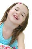 χαριτωμένο κορίτσι που γελά λίγο μικρό παιδί Στοκ Εικόνες