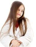 χαριτωμένο κορίτσι που μορφάζει ελάχιστα Στοκ Εικόνα