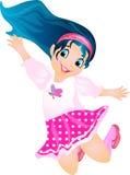 χαριτωμένο κορίτσι που πηδά ελάχιστα ελεύθερη απεικόνιση δικαιώματος