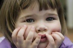 χαριτωμένο κορίτσι προσώπ&omic Στοκ Εικόνες
