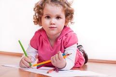 χαριτωμένο κορίτσι σχεδί&omega Στοκ Εικόνες