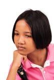 Χαριτωμένο κορίτσι λυπημένο και κραυγή Στοκ εικόνα με δικαίωμα ελεύθερης χρήσης