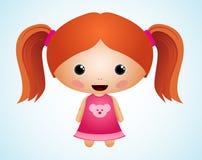 χαριτωμένο κορίτσι χαρακ&tau Στοκ φωτογραφία με δικαίωμα ελεύθερης χρήσης