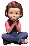 χαριτωμένο κορίτσι στοκ φωτογραφία