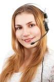 χαριτωμένο κορίτσι techsupport Στοκ Εικόνα