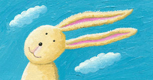Χαριτωμένο κουνέλι στον αέρα Στοκ φωτογραφίες με δικαίωμα ελεύθερης χρήσης