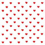 Χαριτωμένο κόκκινο υπόβαθρο αφαίρεσης καρδιών Γεωμετρικές μορφές καρδιών σύστασης Για το σχέδιο, ευχετήρια κάρτα, τυπωμένες ύλες  απεικόνιση αποθεμάτων
