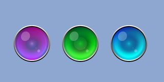 Χαριτωμένο λαμπρό κουμπί ματιών με το ασημένιο διανυσματικό σύνολο συνόρων απεικόνιση αποθεμάτων