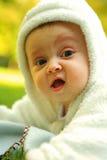 χαριτωμένο λευκό portrate μωρών Στοκ Εικόνα