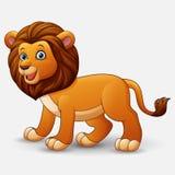 χαριτωμένο λιοντάρι κινούμενων σχεδίων Στοκ Εικόνα