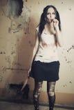 Χαριτωμένο μανιακό κορίτσι Στοκ Εικόνα