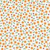 Χαριτωμένο μικρό διανυσματικό άνευ ραφής σχέδιο λουλουδιών Στοκ φωτογραφίες με δικαίωμα ελεύθερης χρήσης