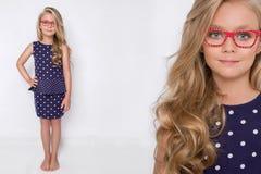 Χαριτωμένο μικρό κορίτσι σε ένα άσπρο φόρεμα κοινωνίας, Στοκ φωτογραφία με δικαίωμα ελεύθερης χρήσης