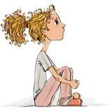 Χαριτωμένο μικρό κορίτσι. απεικόνιση αποθεμάτων