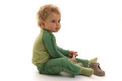 χαριτωμένο μικρό παιδί κοριτσιών Στοκ Φωτογραφίες