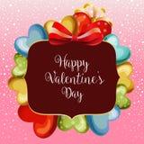 Χαριτωμένο μπαλόνι αγάπης καρτών χιονιού βαλεντίνων απεικόνιση αποθεμάτων