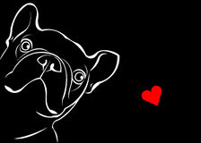 Χαριτωμένο μπουλντόγκ γαλλικά ζώων κατοικίδιων ζώων φυλής σκυλιών ελεύθερη απεικόνιση δικαιώματος