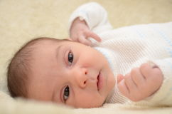 Μαύρο eyed μωρό Στοκ φωτογραφία με δικαίωμα ελεύθερης χρήσης