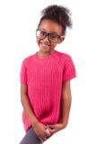 Χαριτωμένο νέο κορίτσι αφροαμερικάνων Στοκ Εικόνα