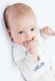 Χαριτωμένο νεογέννητο αγοράκι στοκ εικόνες με δικαίωμα ελεύθερης χρήσης
