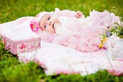 Χαριτωμένο νεογέννητο κορίτσι Στοκ εικόνα με δικαίωμα ελεύθερης χρήσης