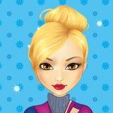 Χαριτωμένο ξανθό κορίτσι ειδώλων ελεύθερη απεικόνιση δικαιώματος