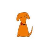 Χαριτωμένο πανούργο σκυλί με την προεξέχουσα γλώσσα Στοκ Εικόνα