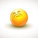 Χαριτωμένο περίεργο emoticon, emoji - διανυσματική απεικόνιση Στοκ Φωτογραφία