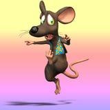 χαριτωμένο ποντίκι κινούμενων σχεδίων Στοκ εικόνες με δικαίωμα ελεύθερης χρήσης