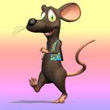 χαριτωμένο ποντίκι κινούμενων σχεδίων Στοκ φωτογραφία με δικαίωμα ελεύθερης χρήσης