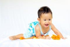 Χαριτωμένο πορτρέτο κοριτσάκι μωρών στοκ φωτογραφίες με δικαίωμα ελεύθερης χρήσης