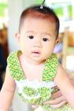 Χαριτωμένο πορτρέτο κοριτσάκι μωρών στοκ εικόνες