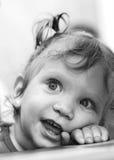 χαριτωμένο πορτρέτο κοριτσιών μωρών Στοκ Εικόνες