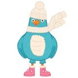 Χαριτωμένο πουλί Χριστουγέννων Στοκ Εικόνες