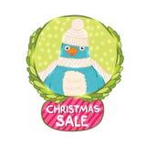 Χαριτωμένο πουλί Χριστουγέννων Στοκ φωτογραφία με δικαίωμα ελεύθερης χρήσης