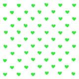 Χαριτωμένο πράσινο αφηρημένο υπόβαθρο καρδιών Γεωμετρικές μορφές καρδιών σύστασης Για το σχέδιο, ευχετήρια κάρτα, τυπωμένη ύλη μπ απεικόνιση αποθεμάτων