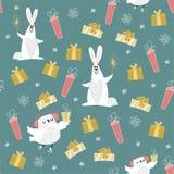 Χαριτωμένο πράσινο σχέδιο Χριστουγέννων Στοκ Εικόνες