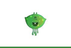 Χαριτωμένο πράσινο τέρας ευτυχές Στοκ φωτογραφία με δικαίωμα ελεύθερης χρήσης