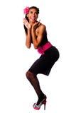 Χαριτωμένο προκλητικό κορίτσι pinup Στοκ εικόνα με δικαίωμα ελεύθερης χρήσης