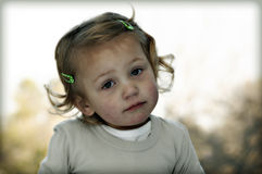 Χαριτωμένο προσχολικό κορίτσι στοκ φωτογραφία
