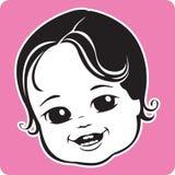 χαριτωμένο πρόσωπο μωρών ελεύθερη απεικόνιση δικαιώματος