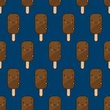 Χαριτωμένο πρότυπο παγωτού Στοκ φωτογραφίες με δικαίωμα ελεύθερης χρήσης
