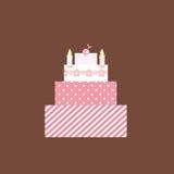 χαριτωμένο ροζ κέικ Στοκ Φωτογραφίες