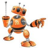 χαριτωμένο ρομπότ Διαδικτύ& Στοκ Εικόνες